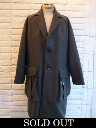 【DIET BUTHCHER SLIM SKIN】Raglan sleeve light melton coat (DUST GRAY)