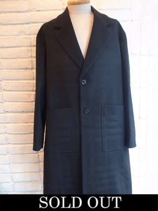 【roarguns/ロアーガンズ】DOBBY SHADOW CHECK × KNOTTING FLANNEL LONG JACKET (BLACK)
