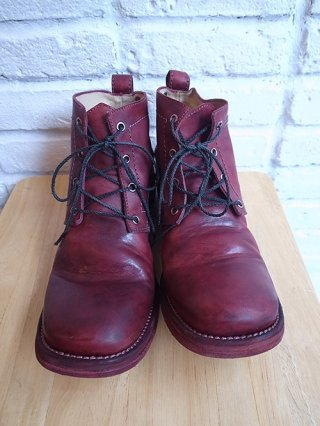【incarnation】HORSE LEATHER ANCLE 4 HOLE #3 LINED LEATHER SOLES (BORDEAUX)