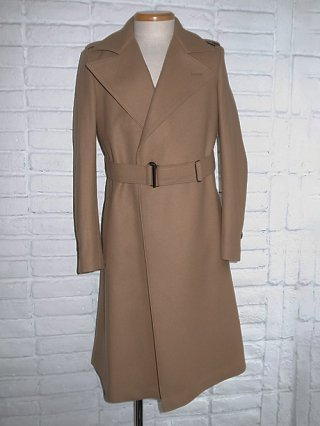 【kiryuyuik】Super 100's Melton Long Coat (Camel)