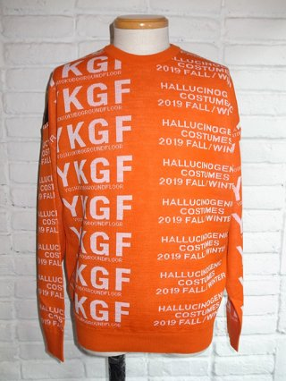 【yoshiokubo】TECHNO SWEATER (ORANGE)