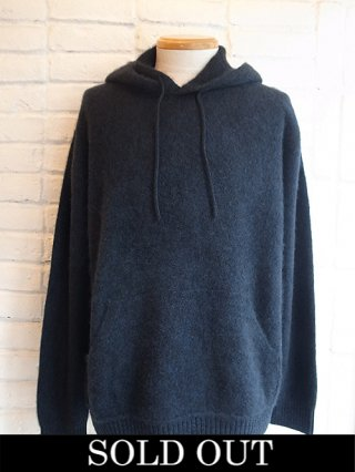【COOHEM/コーヘン】COLOR MIX CASHMERE HOODIE (BLACK)