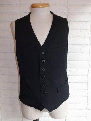 【kiryuyrik/キリュウキリュウ】Gabardine Stretch Vest (Black)
