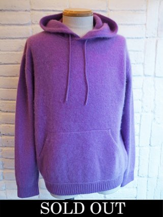【COOHEM/コーヘン】COLOR MIX CASHMERE HOODIE (PURPLE)