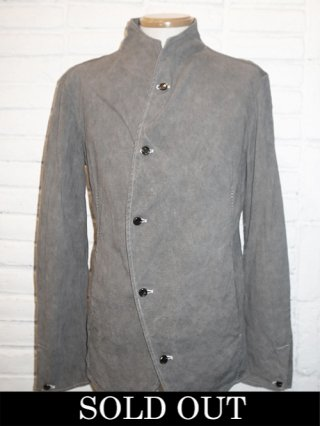 【incarnation/インカネーション】LINEN/COTTON 5 BUTTON FRONT JACKET #2 UNLINED (GRAY)