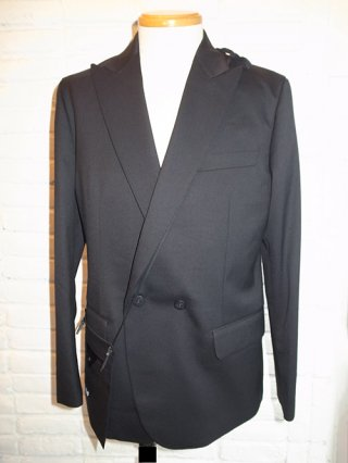 【yoshiokubo/ヨシオクボ】SILK/WOOL JACKET with SAKOSSHU (BLACK)