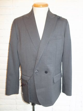 【yoshiokubo/ヨシオクボ】SILK/WOOL JACKET with SAKOSSHU (GRAY)