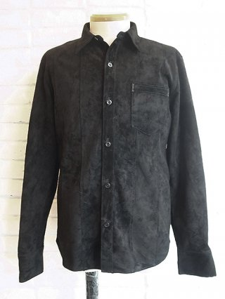 【STRUM/ストラム】Domestic Calf Suede Shirts (BLACK)