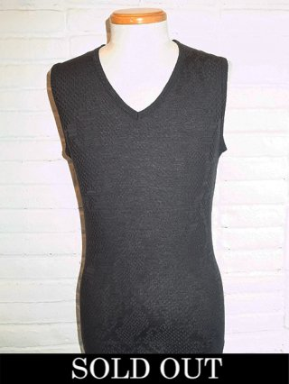 【kiryuyrik/キリュウキリュウ】Python JQD V Neck Tank Top (BLACK)