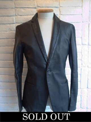 【STRUM/ストラム】Domesic Calf skin Jacket (BLACK)