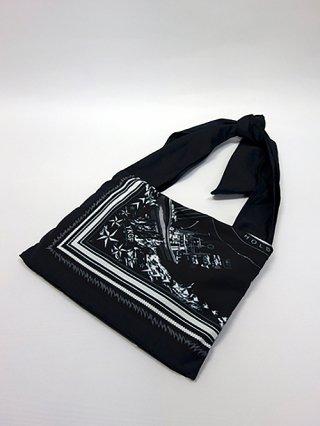 【yoshiokubo/ヨシオクボ】SHIP SCARF BAG (BLACK)