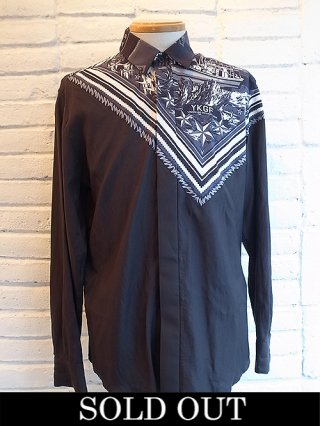 【yoshiokubo/ヨシオクボ】SHIP BANDANA L/S SHIRTS (BLACK)