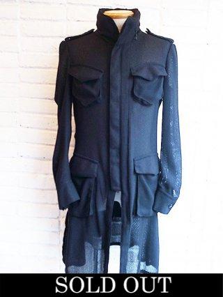 【kiryuyrik/キリュウキリュウ】KARAMI Long Poke Jacket (Black)
