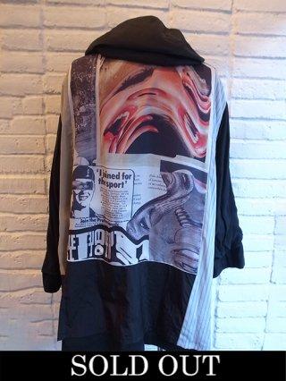 【DIET BUTCHER SLIM SKIN×KOSUKE KAWAMURA】Big Hooded Coat (Black)