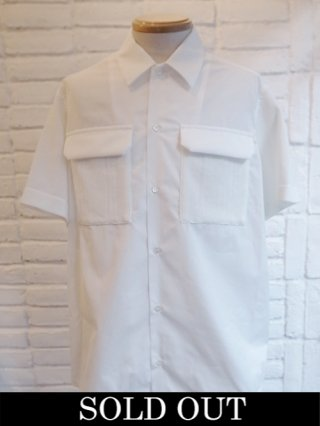 【COOHEM/コーヘン】KNIT PATCHWORK S/S SHIRTS (WHITE)