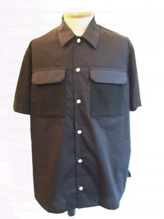 【COOHEM/コーヘン】KNIT PATCHWORK S/S SHIRTS (BLACK)