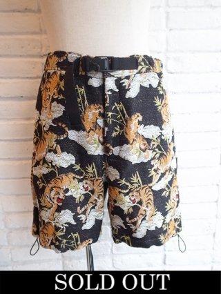 【amok/アモク】TIGER PILE JACQUARD SHORTS (BLACK)