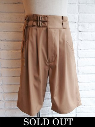【Iroquois/イロコイ】W BELTED SHORTS (BEG)