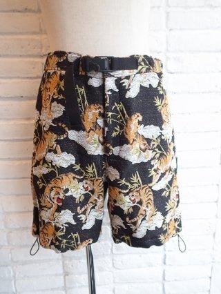 【amok】TIGER PILE JACQUARD SHORTS (BLACK)