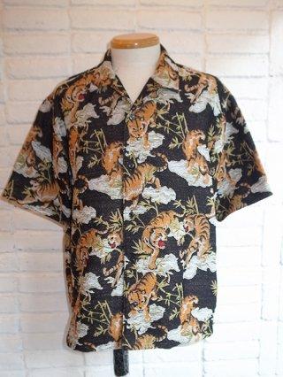【amok】TIGER PILE JACQUARD SHIRTS (BLACK)