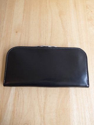 【incarnation/インカネーション】SHELL CORDOVAN WALLET SQ ZIP (BLACK)