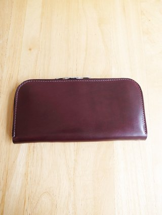 【incarnation/インカネーション】SHELL CORDOVAN WALLET SQ ZIP (BORDEAUX)