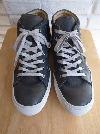 【incarnation/インカネーション】HORSE LEATHER SNEAKER VS HI CUT LINED  (D.BLUE)