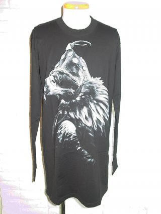 "【nude:mm/ヌード】ROB WALBERS ""EAGLE"" PRINT LONG SLEEVE OVER SIZED TEE (BLACK)"