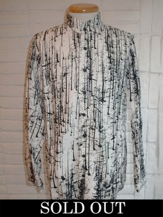 "【nude:mm/ヌード】ROB WALBERS ""FOREST"" PRINT COTTON JAQUARD SHIRT (FOREST)"