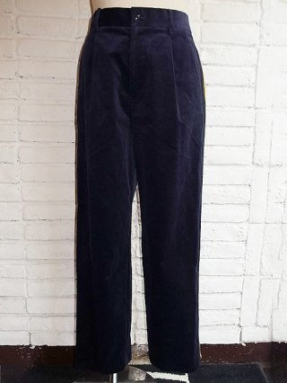 【COOHEM/コーヘン】KNIT SIDELINE CORDUROY PANTS (NAVY)