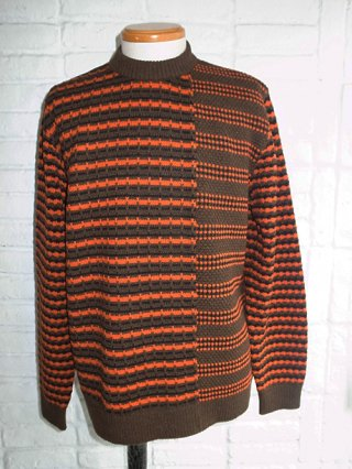 【COOHEM/コーヘン】RETRO WAVE KNIT PULLOVER (BROWN)