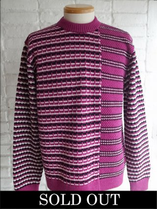 【COOHEM/コーヘン】RETORO WAVE KNIT PULLOVER (PURPLE)