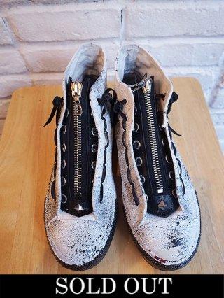 """【STRUM/ストラム】""""WHITE REVOLT"""" hi-cut sneaker (WHITE)"""