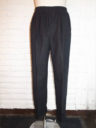 【SUPERTHANKS/スーパーサンクス】MELTON TUCK WIDE TAPERED PANTS (BLACK)