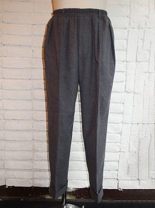 【SUPERTHANKS/スーパーサンクス】MELTON TUCK WIDE TAPERED PANTS (GRAY)