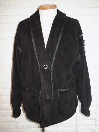 【SUPERTHANKS/スーパーサンクス】DOUBLE-FACE FUR BIC CARDIGAN (BLACK)