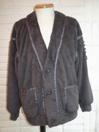 【SUPERTHANKS/スーパーサンクス】DOUBLE-FACE FUR BIC CARDIGAN (GRAY)