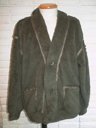 【SUPERTHANKS/スーパーサンクス】DOUBLE-FACE FUR BIC CARDIGAN (MOSS GREEN)