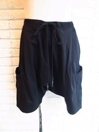 【NUDE:MM】Cotton Heavy Jersey Sarouel Short Sweat Pants (BLACK)