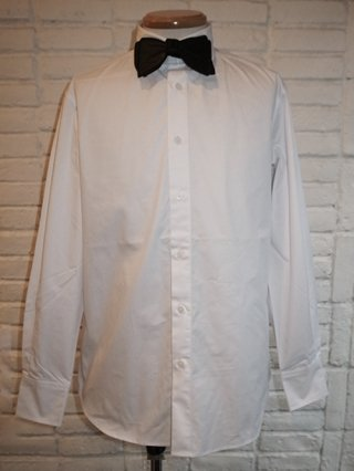 <img class='new_mark_img1' src='https://img.shop-pro.jp/img/new/icons8.gif' style='border:none;display:inline;margin:0px;padding:0px;width:auto;' />【SUPERTHANKS  NOIR】BOW-TIE WAPPEN BASIC SHIRT (WHITE/BK TIE)