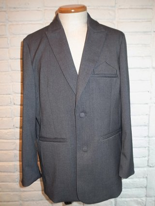 <img class='new_mark_img1' src='https://img.shop-pro.jp/img/new/icons8.gif' style='border:none;display:inline;margin:0px;padding:0px;width:auto;' />【SUPERTHANKS  NOIR】SINGLE JACKET WITH EMBROIDERY (TR GRAY)