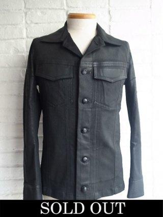 【kiryuyrik/キリュウキリュウ】Coating Twill G-Jacket (BLACK)