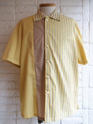 【COOHEM/コーヘン】KNIT PATCHWORK S/S SHIRTS (YELLOW)