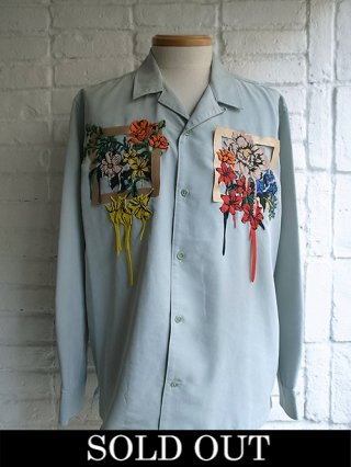【amok/アモク】NON-STANDARS EMBROIDERY SHIRTS (MINT)