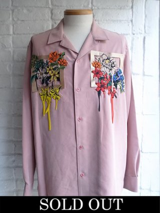 【amok/アモク】NON-STANDARS EMBROIDERY SHIRTS (PINK)