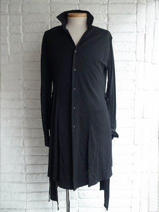 <img class='new_mark_img1' src='https://img.shop-pro.jp/img/new/icons8.gif' style='border:none;display:inline;margin:0px;padding:0px;width:auto;' />【kiryuyrik/キリュウキリュウ】Wool Jersey Skipper Flare Shirts (Black)