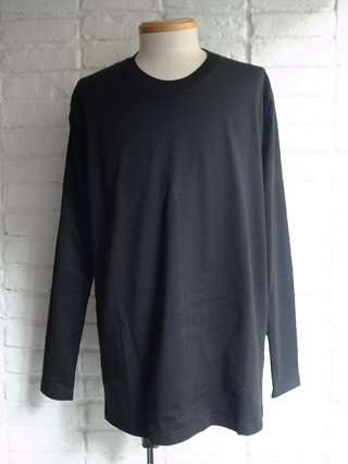<img class='new_mark_img1' src='https://img.shop-pro.jp/img/new/icons8.gif' style='border:none;display:inline;margin:0px;padding:0px;width:auto;' />【nude:masahiko maruyama】40/2 28G Cotton Jersey Long Sleeve T-shirt (BLACK)