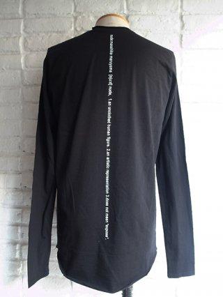 <img class='new_mark_img1' src='https://img.shop-pro.jp/img/new/icons8.gif' style='border:none;display:inline;margin:0px;padding:0px;width:auto;' />【nude:masahiko maruyama/nude:mm】30/- Cotton Jersey Long Sleeve T-shirt (BLACK)