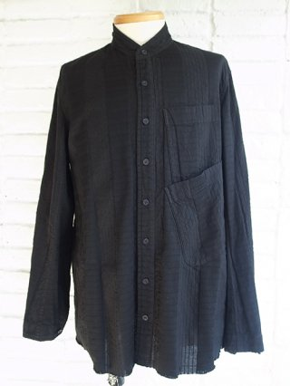 <img class='new_mark_img1' src='https://img.shop-pro.jp/img/new/icons8.gif' style='border:none;display:inline;margin:0px;padding:0px;width:auto;' />【nude:masahiko maruyama/nude:mm】Garment Dyeing Oversized Shirt (BLACK)