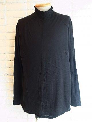 <img class='new_mark_img1' src='https://img.shop-pro.jp/img/new/icons8.gif' style='border:none;display:inline;margin:0px;padding:0px;width:auto;' />【nude:masahiko maruyama/nude:mm】Bottle Neck Layered T Shirt (BLACK)